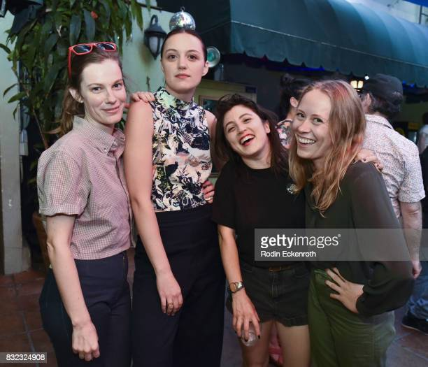 Actors Lindsay Burdge Eleanor Pienta Tallie Medel and Lainie pose for portrait at the screening of 'Snowy Bing Bongs' at The CineFamily on August 15...