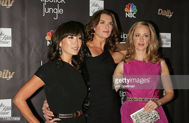 Actors Lindsay Price Brooke Shields and Kim Raver arrive at the 'Lipstick Jungle' Premiere at Saks Fifth Avenue on January 31 2008 in New York City