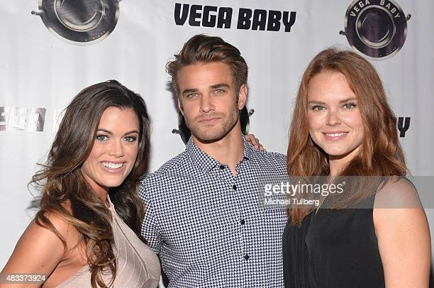 Actors Lindsey Grubbs Brian Borello and Monika Tilling attend the premiere of Blump International Films' 'Shooting The Warwicks' at Arena Cinema...