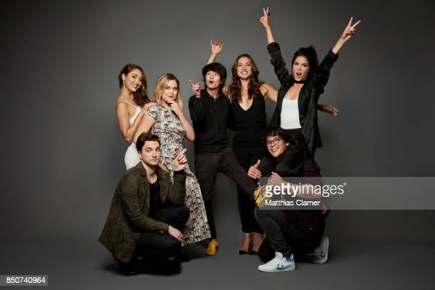 Actors Lindsey Morgan Richard Harmon Eliza Taylor Christopher Larkin Tasya Teles Bob Morley and Marie Avgeropoulos from The 100 are photographed for...