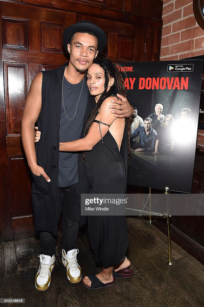 Actors <a gi-track='captionPersonalityLinkClicked' href=/galleries/search?phrase=Lisa+Bonet&family=editorial&specificpeople=748233 ng-click='$event.stopPropagation()'>Lisa Bonet</a> (R) and Ismael Cruz Cordova attend a viewing party for Showtime's 'Ray Donovan' at O'Brien's Irish Pub on June 26, 2016 in Santa Monica, California.