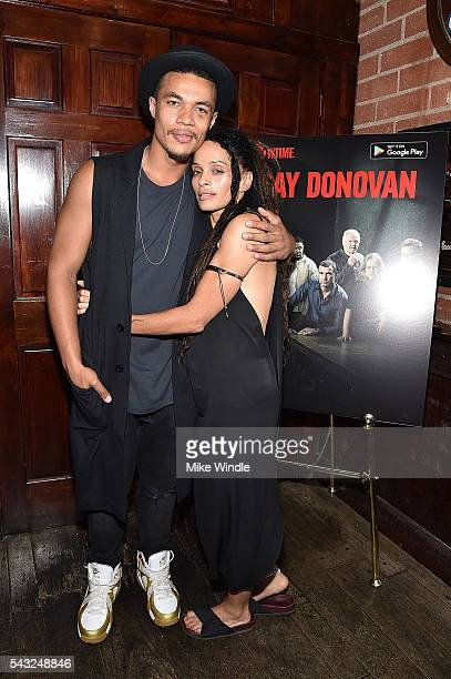 Actors Lisa Bonet and Ismael Cruz Cordova attend a viewing party for Showtime's 'Ray Donovan' at O'Brien's Irish Pub on June 26 2016 in Santa Monica...