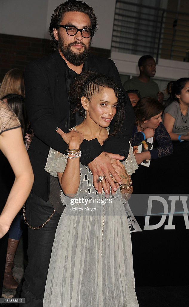Actors <a gi-track='captionPersonalityLinkClicked' href=/galleries/search?phrase=Lisa+Bonet&family=editorial&specificpeople=748233 ng-click='$event.stopPropagation()'>Lisa Bonet</a> and <a gi-track='captionPersonalityLinkClicked' href=/galleries/search?phrase=Jason+Momoa&family=editorial&specificpeople=2310586 ng-click='$event.stopPropagation()'>Jason Momoa</a> arrive at the Los Angeles premiere of 'Divergent' at Regency Bruin Theatre on March 18, 2014 in Los Angeles, California.