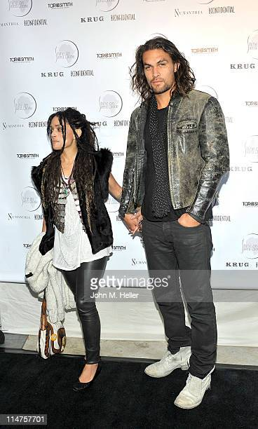 Actors Lisa Bonet and Jason Momoa attend the 5th annual fundraiser for Shine on Sierra Leone at a private residence on May 25 2011 in Venice...