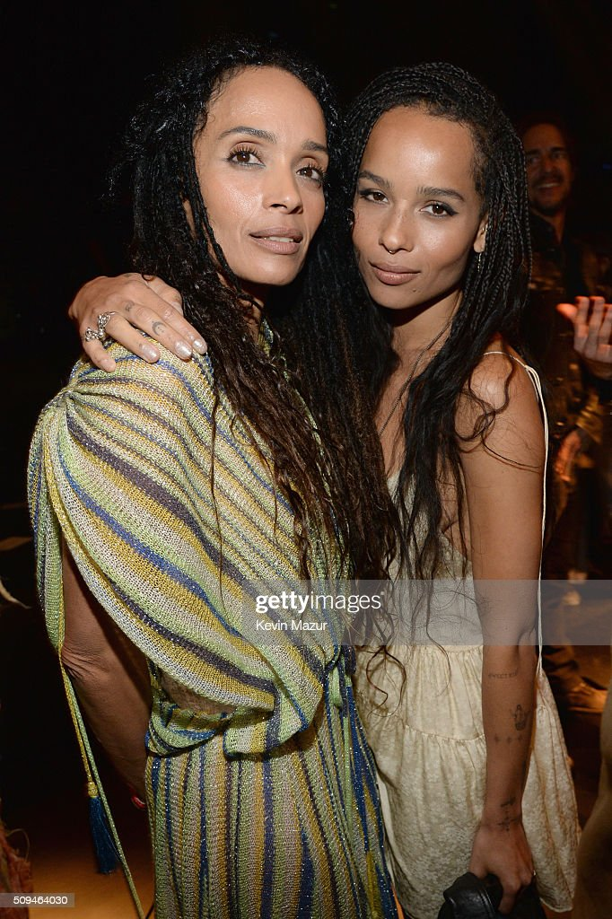 Actors Lisa Bonet (L) and Zoe Kravitz attend Saint Laurent at the Palladium on February 10, 2016 in Los Angeles, California for the Saint Laurent Los Angeles show.
