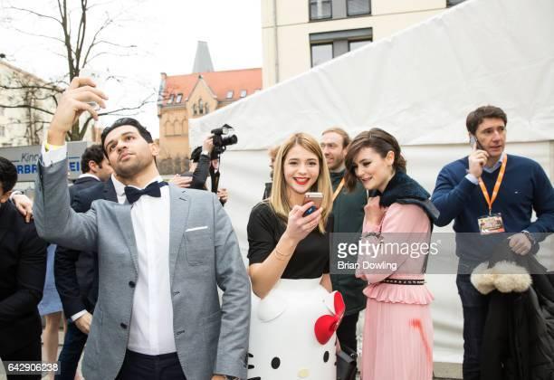 Actors Lisa Marie Koroll and Lea van Acken at the German premiere of the film 'Bibi Tina Tohuwabohu Total' at Kino in der Kulturbrauerei on February...