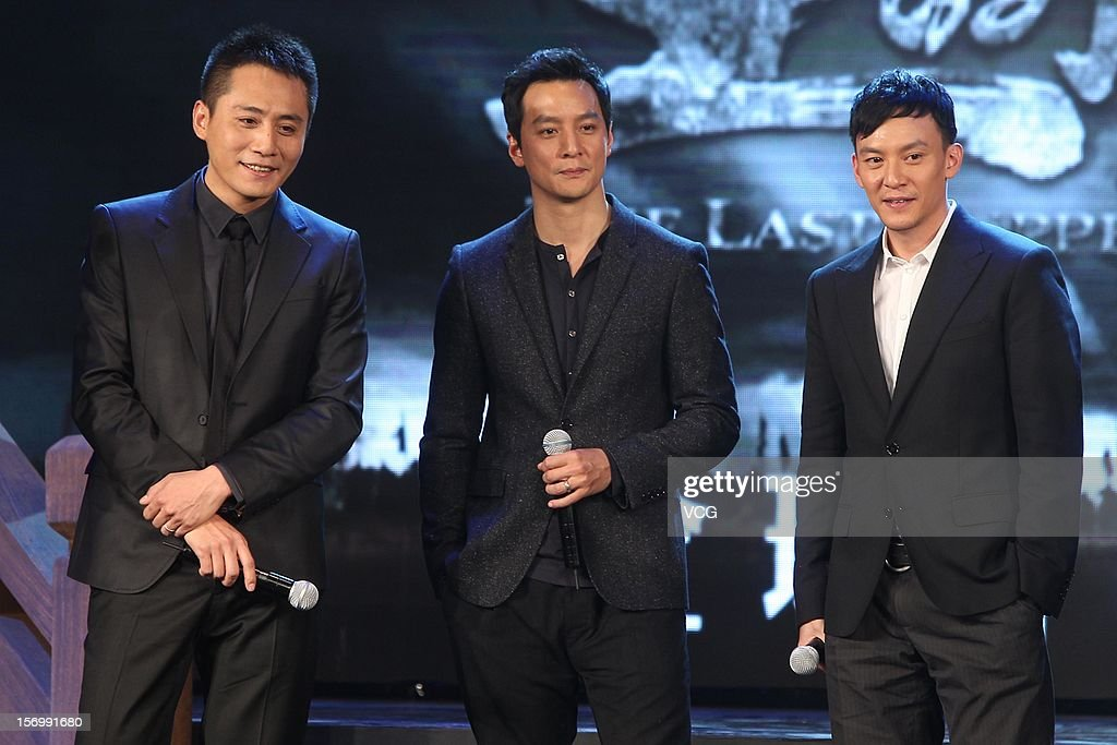 Actors Liu Ye, Daniel Wu and Chang Chen attend 'The Last Supper' press conference at Prosper Center on November 26, 2012 in Beijing, China.