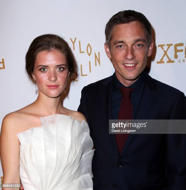 Actors Liv Lisa Fries and Volker Bruch attend the premiere of Beta Film's 'Babylon Berlin' at The Theatre at Ace Hotel on October 6 2017 in Los...