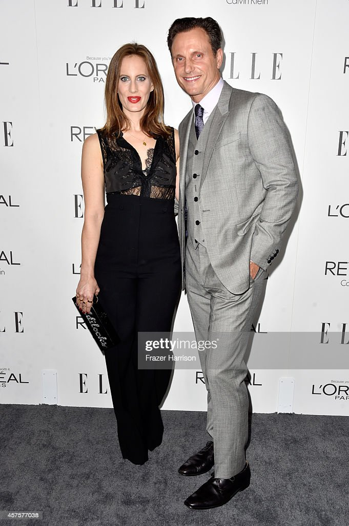 actors Liz Goldwyn and Tony Goldwyn arrive at ELLE's 21st Annual Women In Hollywood at Four Seasons Hotel Los Angeles at Beverly Hills on October 20...