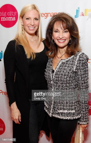 Actors Liza Huber and Susan Lucci attend Big City Moms Biggest Baby Shower Ever produced by Big City Moms and Fit Pregnancy on May 9 2012 in New York...