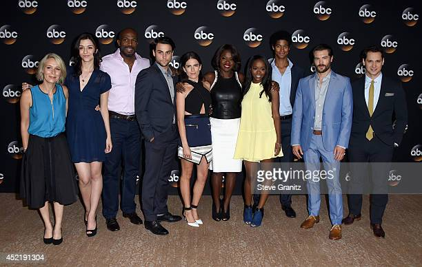 Actors Liza Weil Katie Findley Billy Brown Jack Falahee Karla Souza Viola Davis Aja Naomi King Alfred Enoch Charlie Weber and Matt McGorry attend the...