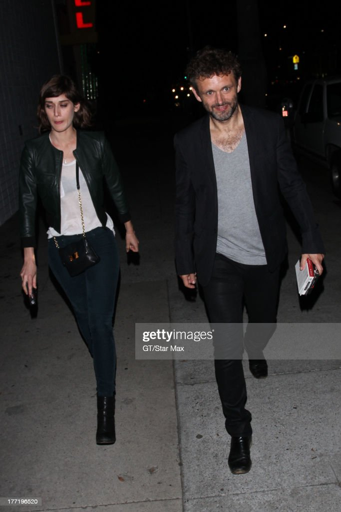 Actors <a gi-track='captionPersonalityLinkClicked' href=/galleries/search?phrase=Lizzy+Caplan&family=editorial&specificpeople=599560 ng-click='$event.stopPropagation()'>Lizzy Caplan</a> and <a gi-track='captionPersonalityLinkClicked' href=/galleries/search?phrase=Michael+Sheen&family=editorial&specificpeople=213120 ng-click='$event.stopPropagation()'>Michael Sheen</a> are seen on August 21, 2013 in Los Angeles, California.