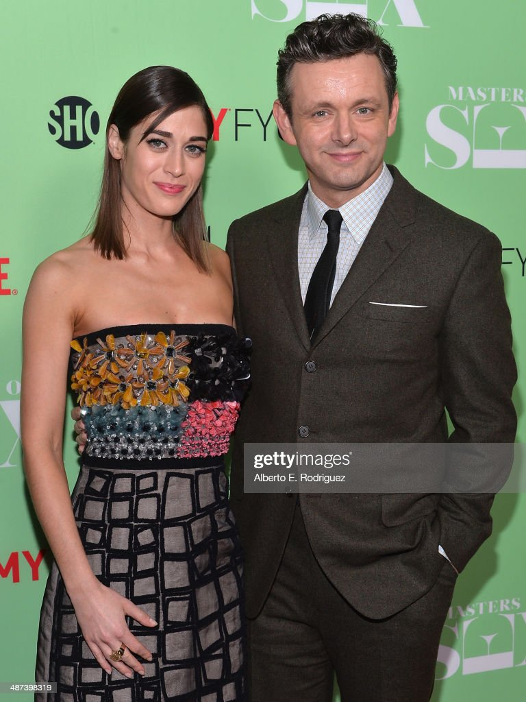 Actors Lizzy Caplan and Michael Sheen arrive to an exclusive conversation with the cast of Showtime's 'Masters Of Sex' at Leonard H. Goldenson Theatre on April 29, 2014 in North Hollywood, California.