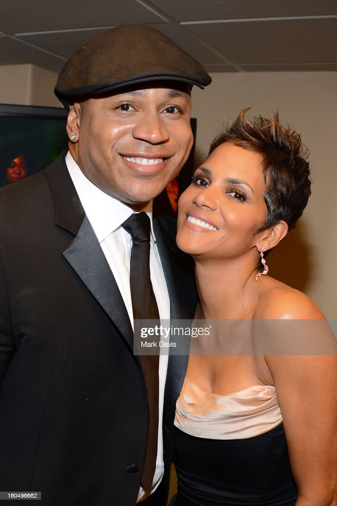 Actors LL Cool J (L) and Halle Berry attend the 44th NAACP Image Awards at The Shrine Auditorium on February 1, 2013 in Los Angeles, California.
