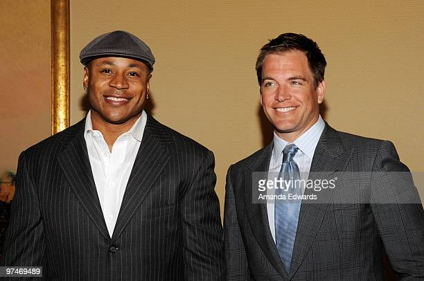 Actors LL Cool J and Michael Weatherly arrive at the 47th Annual ICG Publicists Awards at the Hyatt Regency Century Plaza on March 5 2010 in Century...