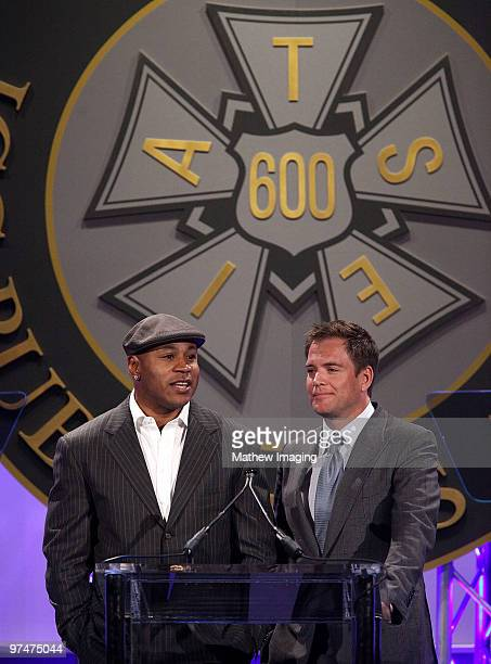COVERAGE** Actors LL Cool J and Michael Weatherly attend the 47th Annual ICG Publicist Awards at the Hyatt Regency Century Plaza on March 5 2010 in...