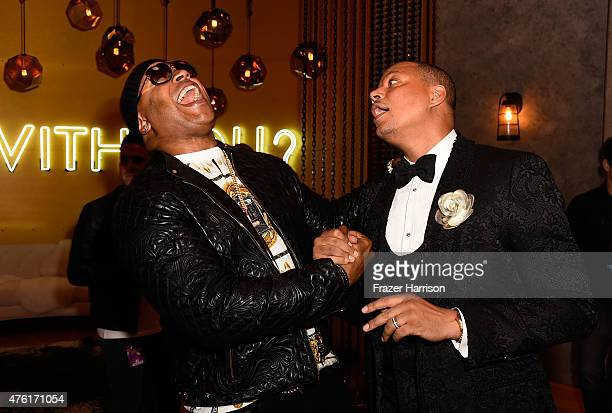 Actors LL Cool J and Terrence Howard attend Spike TV's Guys Choice 2015 at Sony Pictures Studios on June 6 2015 in Culver City California