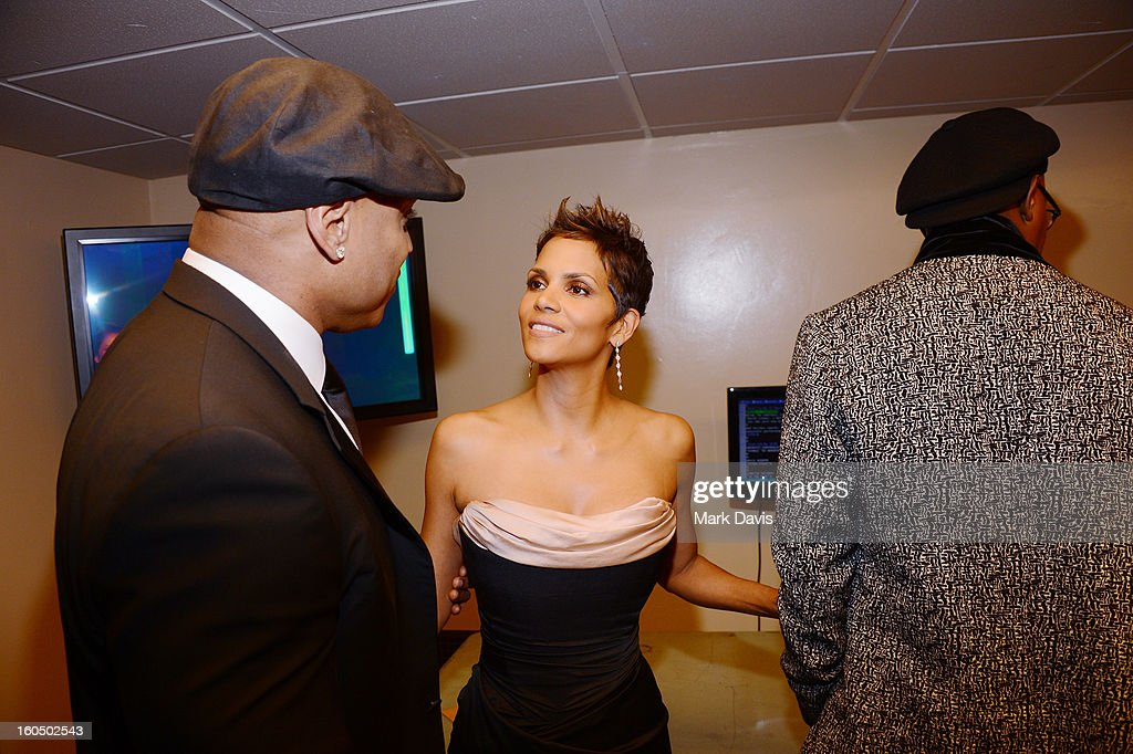 Actors LL Cool J, Halle Berry and Samuel L. Jackson attend the 44th NAACP Image Awards at The Shrine Auditorium on February 1, 2013 in Los Angeles, California.