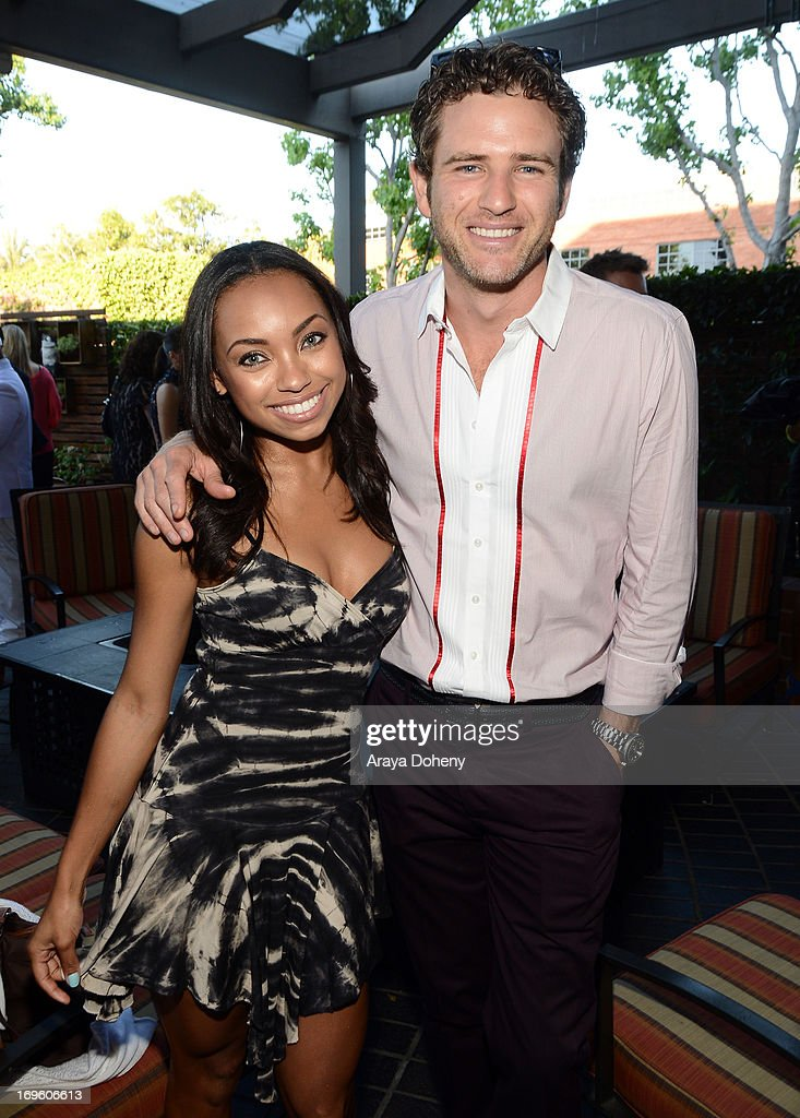 Actors <a gi-track='captionPersonalityLinkClicked' href=/galleries/search?phrase=Logan+Browning&family=editorial&specificpeople=4428135 ng-click='$event.stopPropagation()'>Logan Browning</a> (L) and <a gi-track='captionPersonalityLinkClicked' href=/galleries/search?phrase=Bernard+Curry&family=editorial&specificpeople=221423 ng-click='$event.stopPropagation()'>Bernard Curry</a> attend VH1's 'Hit The Floor' screening at Tiato on May 28, 2013 in Santa Monica, California. V_HTF_05_26_13_0202.JPG