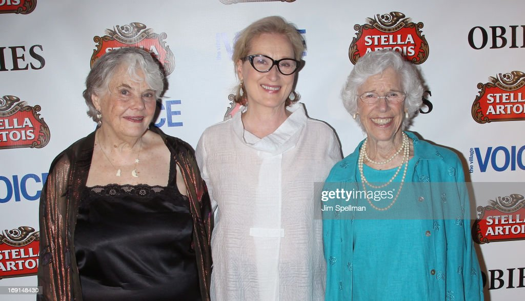 Actors Lois Smith Meryl Streep and Frances Sternhagen attend the 2013 Obie Awards at Webster Hall on May 20 2013 in New York City