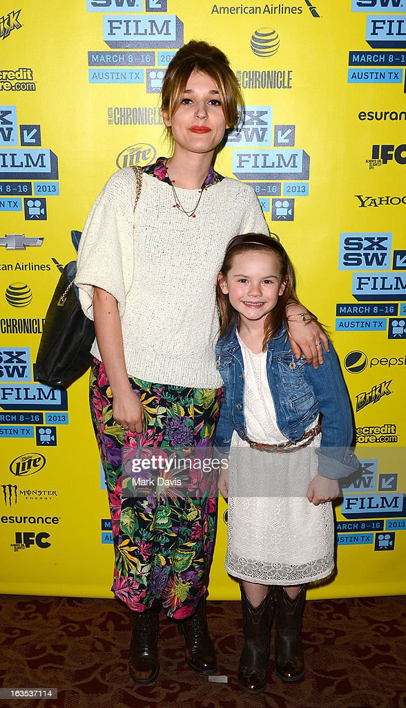 Actors Lola Bessis (L) and Olivia Costello attend the 'Swim Little Fish Swim' photo op held at the 2013 SXSW Music, Film + Interactive Festival at held at the Alamo Ritz on March 11, 2013 in Austin, Texas.