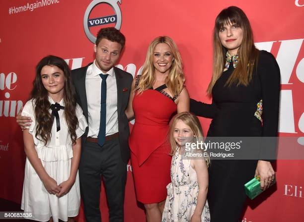 Actors Lola Flanery Jon Rudnitsky Reese Witherspoon Eden Grace Redfield and Lake Bell attend the premiere of Open Road Films' 'Home Again' at the...