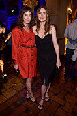 Actors Lola Kirke and Saffron Burrows attend the Screening and QA for Amazon's 'Mozart In The Jungle' after party at The Hollywood Roosevelt Hotel on...