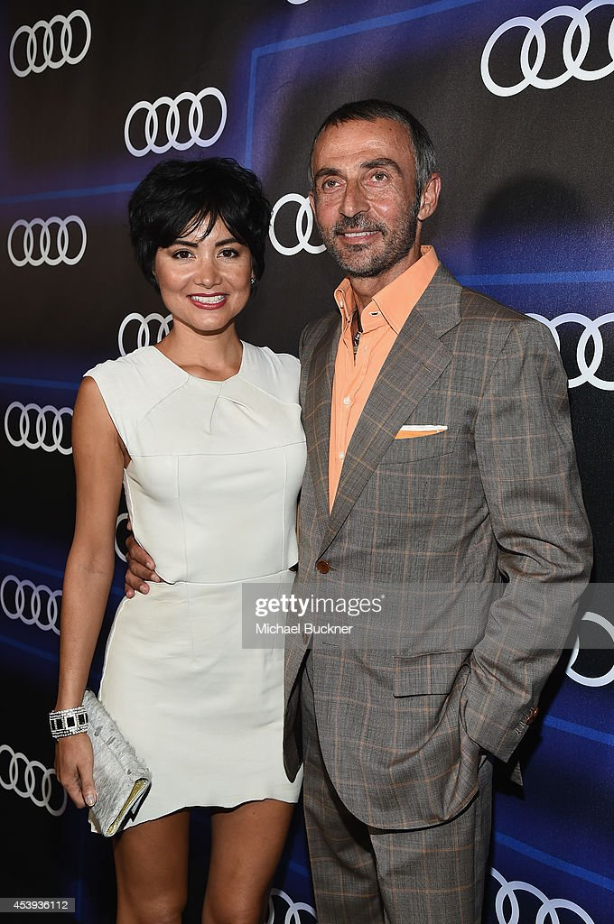 Actors Lorena Mendoza (L) and Shaun Toub attend Audi's Celebration of Emmys Week 2014 at Cecconi's Restaurant on August 21, 2014 in Los Angeles, California.