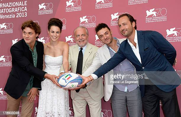 Actors Lorenzo Richelmy Margherita Laterza producer Aurelio De Laurentiis director Enrico Maria Artale and producer Luigi de Laurentiis attend 'Il...
