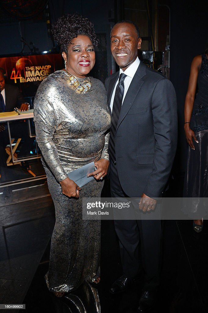 Actors <a gi-track='captionPersonalityLinkClicked' href=/galleries/search?phrase=Loretta+Devine&family=editorial&specificpeople=214600 ng-click='$event.stopPropagation()'>Loretta Devine</a> and <a gi-track='captionPersonalityLinkClicked' href=/galleries/search?phrase=Don+Cheadle&family=editorial&specificpeople=202096 ng-click='$event.stopPropagation()'>Don Cheadle</a> attend the 44th NAACP Image Awards at The Shrine Auditorium on February 1, 2013 in Los Angeles, California.