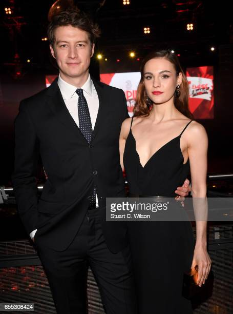 Actors Lorne MacFadyen and Sophie Skelton attend the THREE Empire awards at The Roundhouse on March 19 2017 in London England