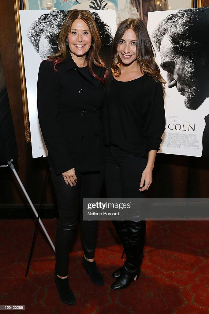 Actors Lorraine Bracco (L) and Stella Keitel attend the special screening of Steven Spielberg's 'Lincoln' at the Ziegfeld Theatre on November 14, 2012 in New York City.
