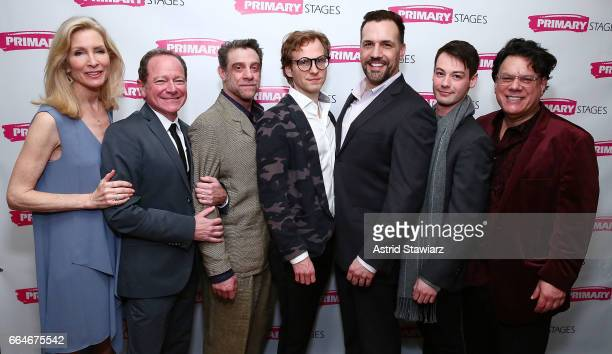 Actors Lou Liberatore Michael McKeever Ryan Spahn Anna Holbrook Matthew Montelongo Leland Wheeler and Joe Brancato attends 'Daniel's Husband' opening...