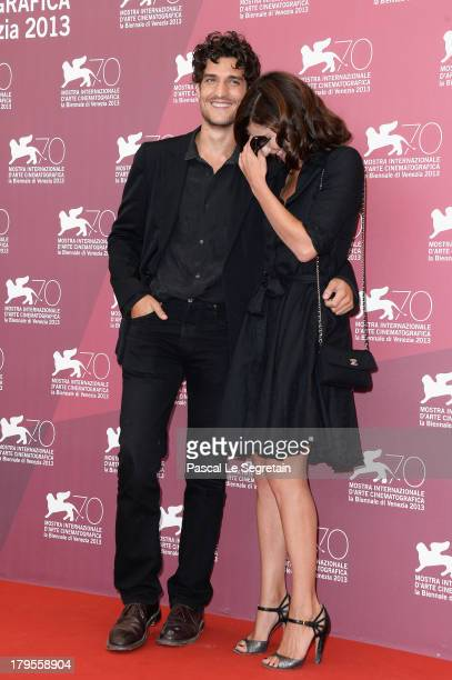Actors Louis Garrel and Anna Mouglalis attend the 'Jealousy' Photocall during the 70th Venice International Film Festival at the Palazzo del Casino...