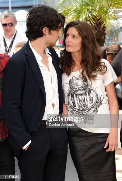 Actors Louis Garrel and Chiara Mastroianni attend the 'Les BienAimes' Photocall during the 64th Cannes Film Festival at the Palais des Festivals on...