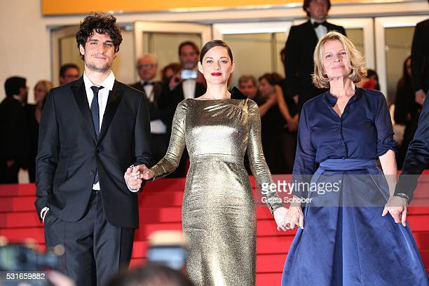 CANNES FRANCE MAY 15 Actors Louis Garrel and Marion Cotillard Nicole Garcia attend the 'From The Land Of The Moon ' premiere during the 69th annual...