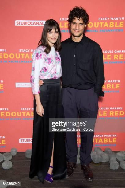 Actors Louis Garrel and Stacy Martin attend the 'Le Redoutable' Paris Premiere at Cinema du Pantheon on September 11 2017 in Paris France