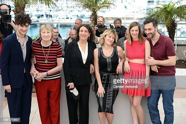 Actors Louis Garrel Marisa Borini screenwriter Noemie Lvovsky director Valeria Bruni Tedeschi actress Celine Sallette and actor Filippo Timi attend...