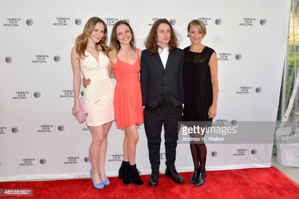 Actors Louisa Krause Emily Meade Rory Culkin and Alexia Rasmussen attend the 'Gabriel' Premiere during the 2014 Tribeca Film Festival at the SVA...