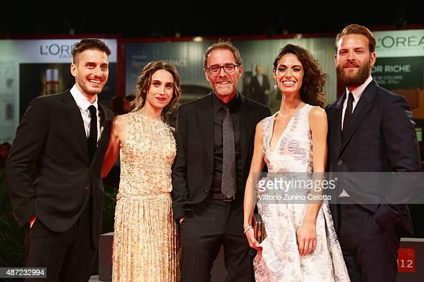 Actors Luca Marinelli Silvia D'Amico Valerio Mastrandrea Roberta Mattei and Alessandro Borghi attend a premiere for 'Don't Be Bad' during the 72nd...