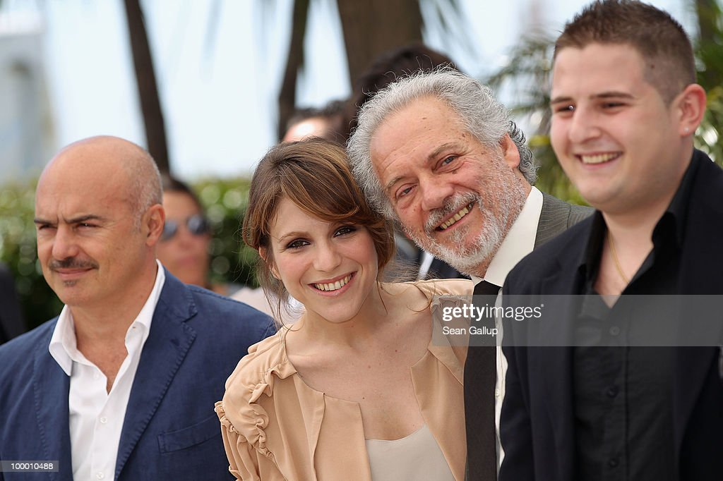 Actors Luca Zingaretti, Isabella Ragonese, guest and Marius Ignat attend the 'Our Life' Photocall at the Palais des Festivals during the 63rd Annual Cannes Film Festival on May 20, 2010 in Cannes, France.