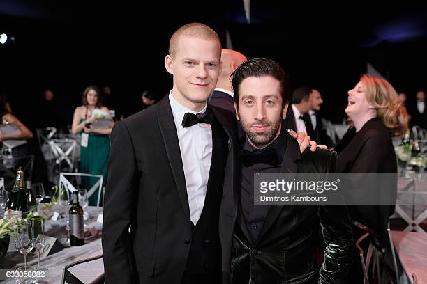 Actors Lucas Hedges and Simon Helberg attend The 23rd Annual Screen Actors Guild Awards at The Shrine Auditorium on January 29 2017 in Los Angeles...