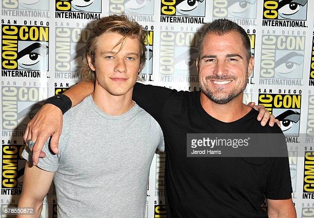 Actors Lucas Till and George Eads attend CBS Fan Favorites Press Line during ComicCon International 2016 at Hilton Bayfront on July 23 2016 in San...