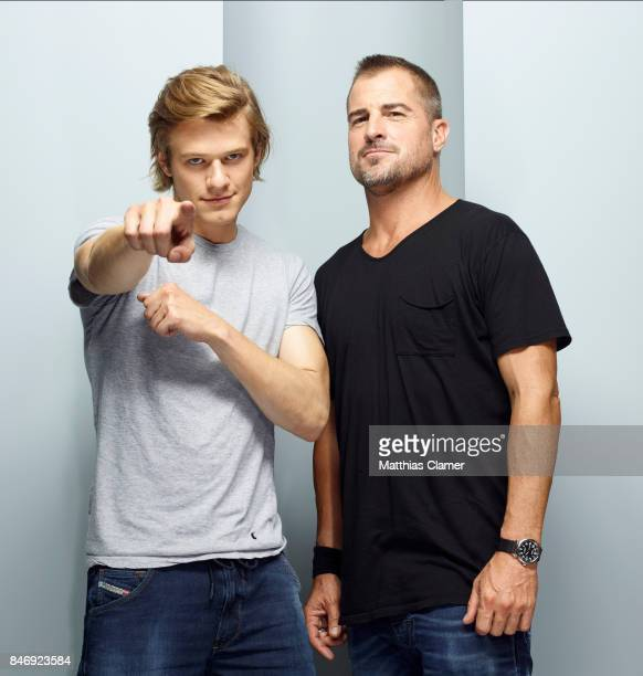 Actors Lucas Till and George Eads from 'MacGyver' are photographed for Entertainment Weekly Magazine on July 21 2016 at Comic Con in the Hard Rock...