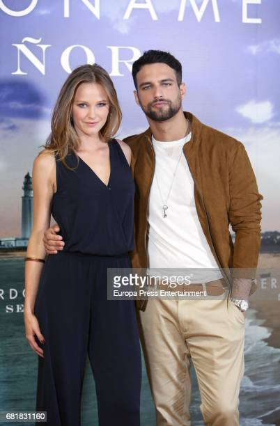 Actors Lucia Guerrero and Stany Coppet attend the 'Perdoname Senor' photocall at Mediaset Studios on May 10 2017 in Madrid Spain