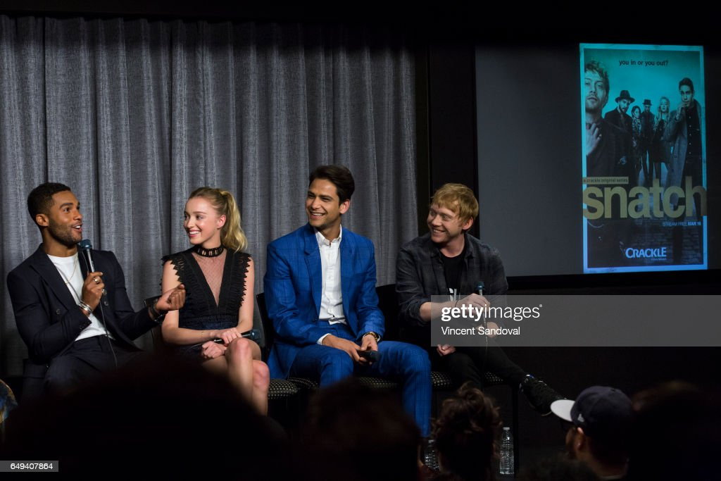 Actors Lucien Laviscount, Phoebe Dynevor, Luke Pasqualino and Rupert Grint attend SAG-AFTRA Foundation's Conversations with 'Snatch' at SAG-AFTRA Foundation Screening Room on March 7, 2017 in Los Angeles, California.