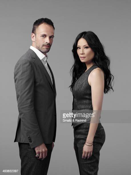 Actors Lucy Liu and Jonny Lee Miller are photographed for TV Guide Magazine on October 8 2013 in New York City