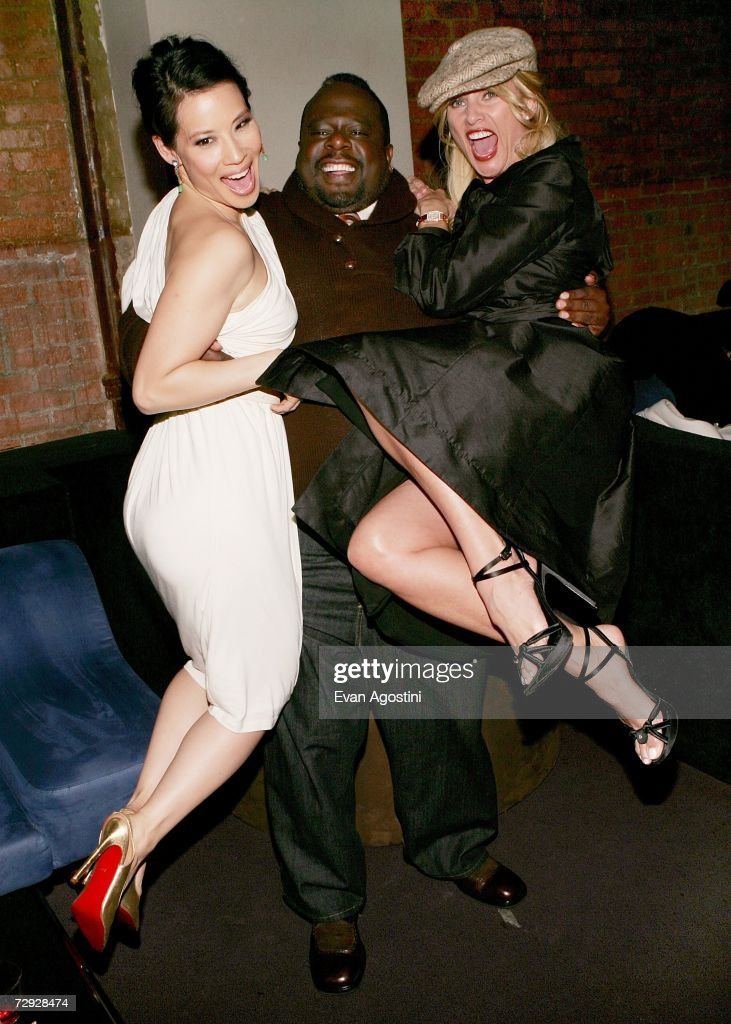 Actors Lucy Liu, Cedric The Entertainer and Nicollette Sheridan attend the 'Code Name: The Cleaner' premiere after party at Pacha, January 04, 2007 in New York City.