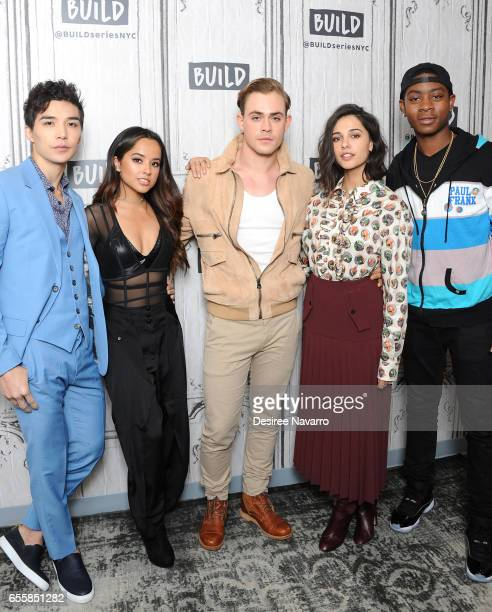 Actors Ludi Lin Becky G Dacre Montgomery Naomi Scott and RJ Cyler attend Build Series to discuss 'Power Rangers' at Build Studio on March 20 2017 in...