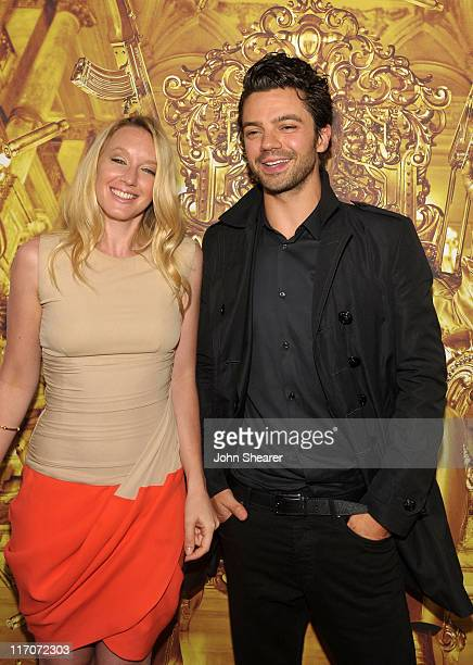 Actors Ludivine Sagnier and Dominic Cooper arrive at 'The Devil's Double' Gala Screening during the 2011 Los Angeles Film Festival held at the Regal...